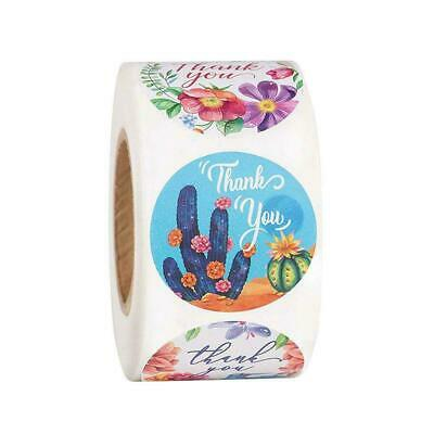 500labels/Roll Handmade Thank You Stickers Wedding Party Flowers Birthday O9P2 • 2.79£
