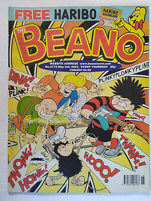 The Beano Comic Number 3172 May 3rd 2003 NO Free Gift • 3.99£