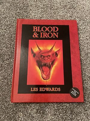 Blood And & Iron Les Edwards Games Workshop Warhammer Fantasy Art Book 1989 • 74.99£