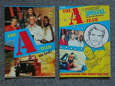 The A-Team 1984 Special Film Stories Comic Puzzle Picture London Editions Poster • 10£