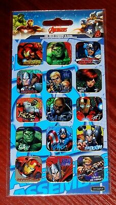 Marvel Avengers Fun Foiled Re-Usable Stickers GIOVAS S.A. Greece Brand New • 2.50£