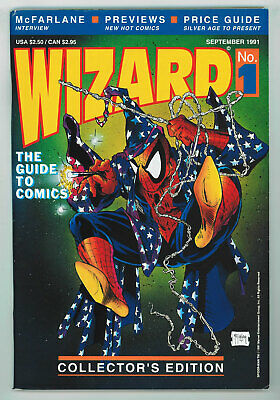 Wizard: Guide To Comics #1 8.0 Mcfarlane Spider-man Cover W Pgs 1991 • 22.01£