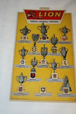 X - 1960 Lion Comic Famous Football Trophies - Superb Condition • 49.99£