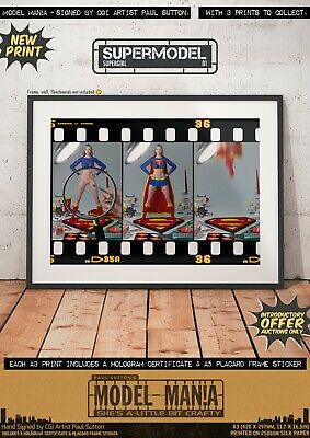 Supergirl NUDE 'Model Mania' Sexy NEW Signed A3 Comic Print Superman DC Kara • 9.95£