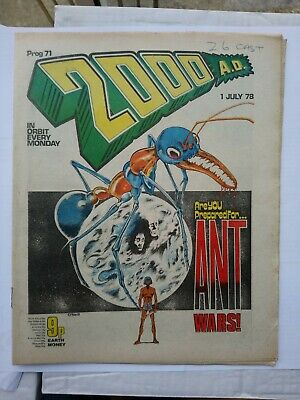 2000ad Prog 71, July 1978, Banned Cursed Earth • 20£