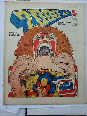 2000ad Prog 72, July 1978, Banned Cursed Earth • 20£