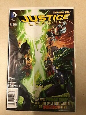 Justice League # 31 Newsstand Variant Edition New 52 First Print Dc Comics  • 249.95£