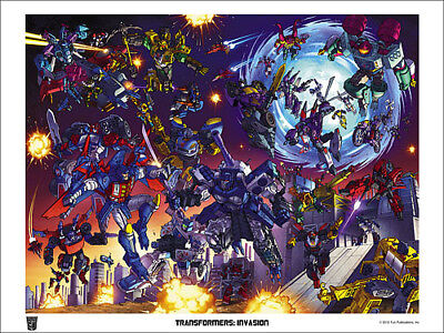 TRANSFORMERS INVASION 2012 LITHOGRAPH; Botcon Art Poster; Limited Edition 250 .. • 55.58£