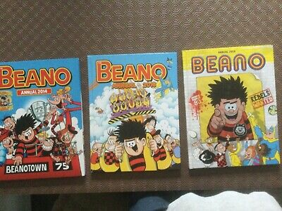 Beano Annuals 2014 , 2016 & 2019 Excellent Condition. • 6£