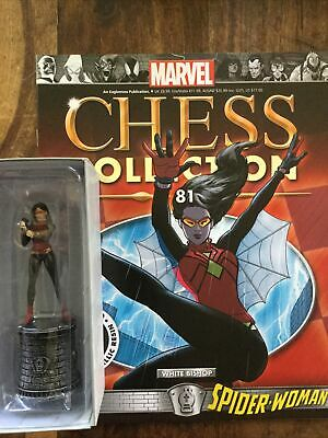 EAGLEMOSS  Marvel Chess Collection # 81 Spider Woman - White Bishop  + Magazine • 25£