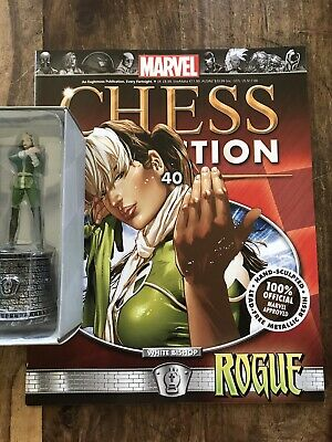 EAGLEMOSS  Marvel Chess Collection # 40 Rogue  - White Bishop + Magazine • 13£