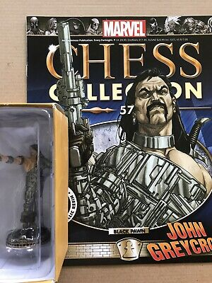 EAGLEMOSS  Marvel Chess Collection Issue 57 John Greycrow + Magazine • 13£