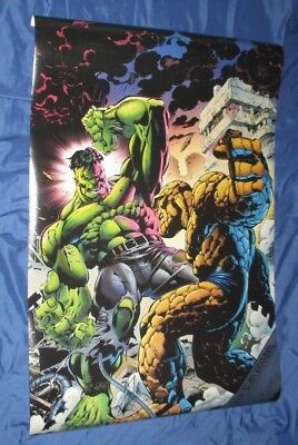 HULK VS THING Vintage Poster SIGNED By STAN LEE ~1994 Marvel Comics / Avengers • 143.04£