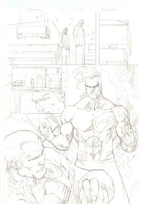 Deadpool #51 P.17 - Cool Daken Splash - 2012 Signed Art By Ale Garza • 127.58£