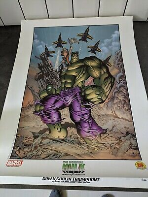 Hulk September 11th By  Randy Queen & A Signed Jae Lee Spiderman Lithographs • 15.49£