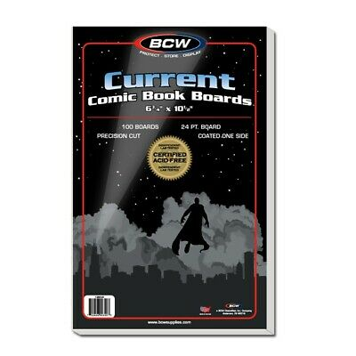 Current Comic Backing Boards X 100 PACK • 16.99£