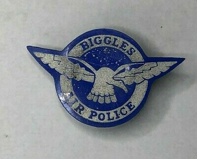 1960 Biggles Air Police Pin Badge Children's Comic Book Hero Cereal Packet Item • 17.17£