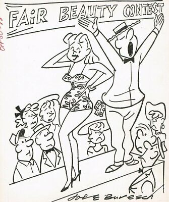 Beauty Contest Gag - Signed Art By Joe Buresch • 61.30£