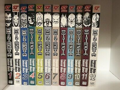 Death Note Volume Vol Full 1-12 Anime Manga Book VIZ MEDIA English Complete Set • 19.99£