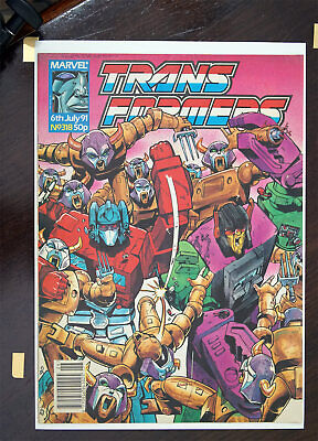 Transformers Marvel UK Comic 1991 Issue 318, High Grade • 28.99£