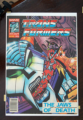 Transformers Marvel UK Comic 1991 Issue 319, High Grade • 31.99£