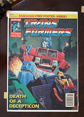 Transformers Marvel UK Comic 1991 Issue 321, High Grade • 30.99£