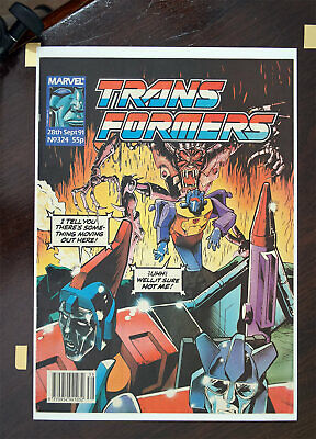 Transformers Marvel UK Comic 1991 Issue 324, High Grade • 31.99£