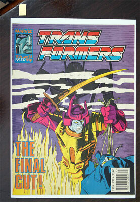Transformers Marvel UK Comic 1991 Issue 332, LAST ISSUE! • 199.99£