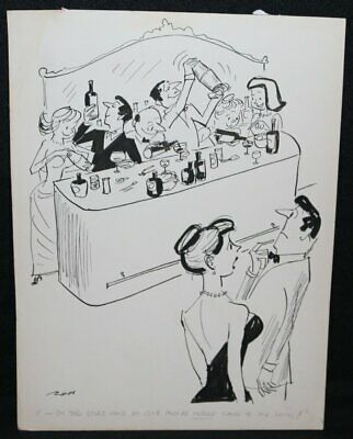 Party Mixed Drinks Humorama Gag - Signed Art By Al Ross • 126.18£