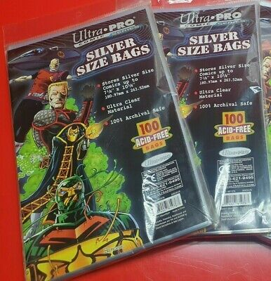 Comic Bags Silver Size X 2 Packs 200 Bags Ultra Pro • 9.99£