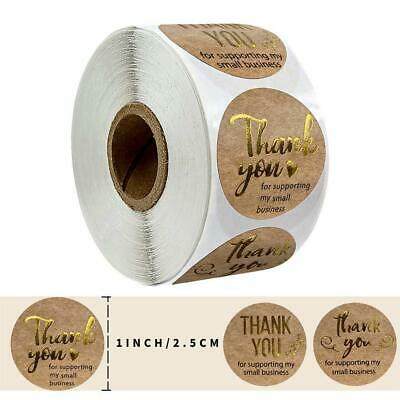 500 Pcs Round Thank You For Supporting Handmade Food Gift Craft Labels Stickers • 2.72£
