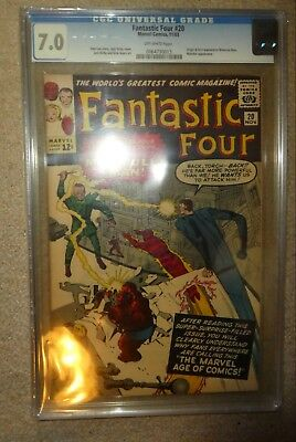 Marvel Comics Fantastic Four 20 CGC 7.0 Thing Molecule Man 1st Appearance  • 799.99£