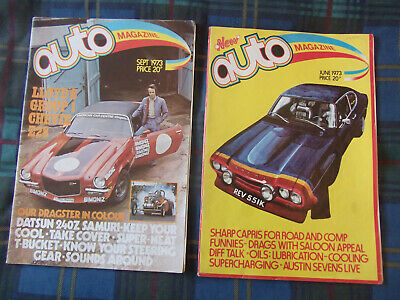 AUTO Magazines June And September 1973.  Good Condition For Age. • 6£