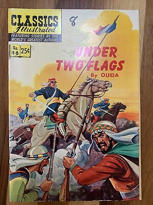 Classics Illustrated Number 86 'Under Two Flags' By Ouida • 6£