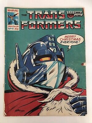 Transformers Comic G1 UK Issue #41 28th December 1985 • 2.70£