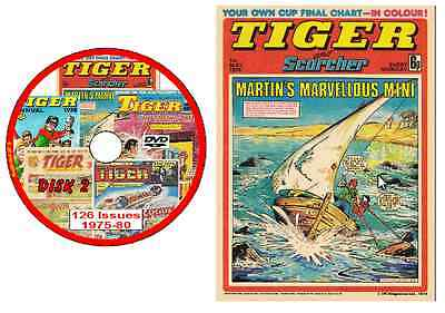 Tiger Comics 575 Issues And 18 Specials1975-1985 On 593 In Total On 4 PCDVD ROMs • 4.89£