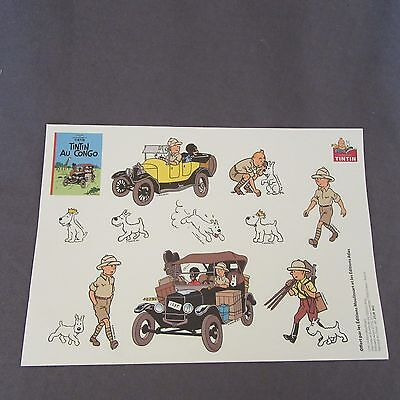 580E Board Sticker Atlas Tintin Au Congo Moulinsart • 5.83£