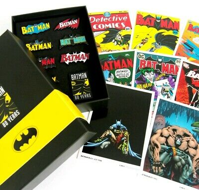 Batman 80th Anniversary Limited Edition Pack Pins And Art Work! Sealed And New • 49.99£