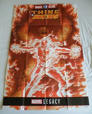 Thing & Human Torch (Marvel Comics 24  X 36  Folded Promo Poster) • 3.99£