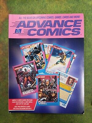 New Advance Comics #37 January 1992 With Order Book, Super Villains Magneto Holo • 5£