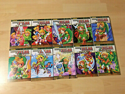 The Legend Of Zelda Anime Manga Book Set Complete Vol 1 - 10 - ENGLISH • 33£