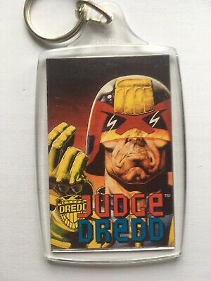 Vintage 1995 Official Judge Dredd Key Ring Release - Keep Sage From Perps NEW • 6.95£