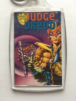 Vintage 1995 Official Judge Dredd Key Ring Release - I Am The Law! NEW • 6.95£