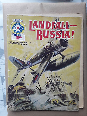 Landfall-Russia - Air Ace Picture Library - War Comic No 396 • 1.50£