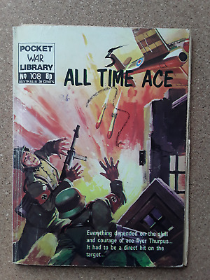 All Time Ace - Pocket War Library - War Comic No 108 • 1.50£