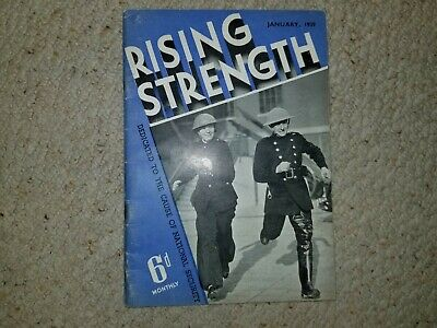 RISING STRENGTH January 1939 Vintage Military Magazine 6d Monthly • 4£