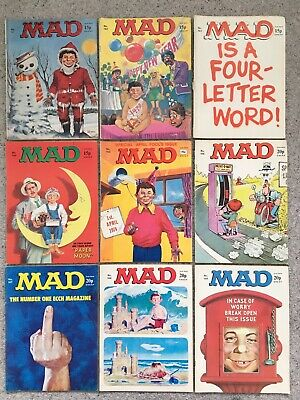 9 Mad Magazines Published In The 1970's Numbers 141-149 (Will Split) • 37£