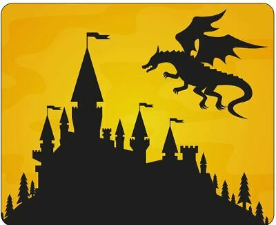 Dragon And Castle Silhouette Mousepad • 7.99£
