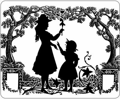 Mother And Child Silhouette In Park Mousepad • 7.99£