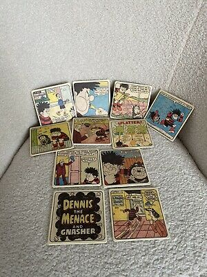 Beano Dennis The Menace And Gnasher Pub Style Coasters Double Sided • 9.95£